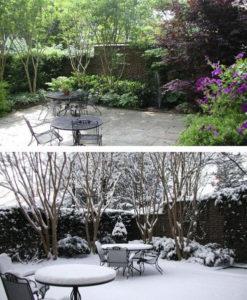Сад зимой и летом